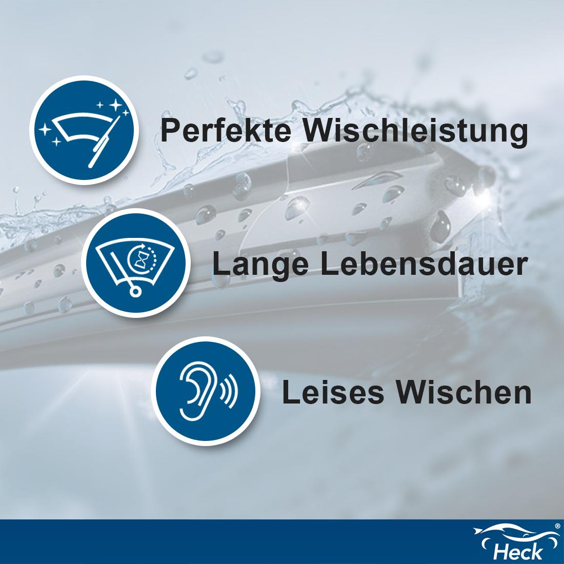 BOSCH Heckscheibenwischer Wischerblatt Wischer H230 230mm