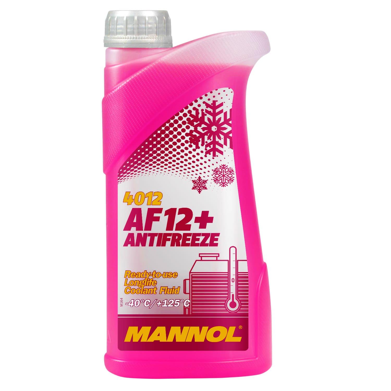 Kühlerfrostschutz Rot G12+ 1 L Mannol Antifreeze AF12+ -40°C Kühlmittel VW Audi
