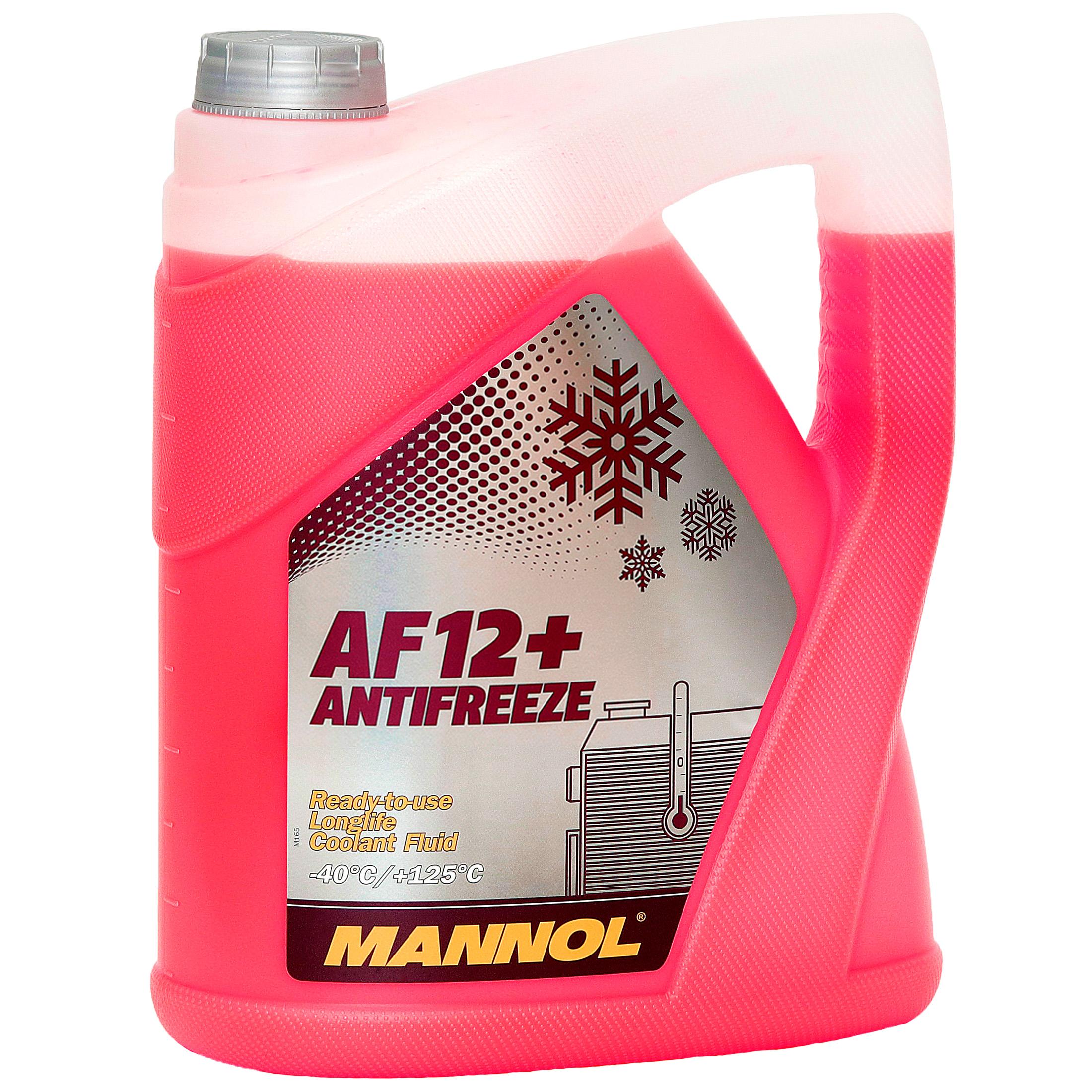 Kühlerfrostschutz Rot G12+ 5 L Mannol Antifreeze AF12+ -40°C Kühlmittel VW Audi