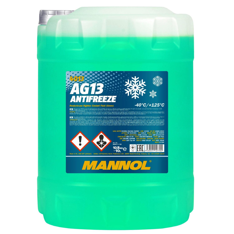 Kühlerfrostschutz Grün 10 L Mannol Antifreeze -40°C Kühlmittel BMW Ford Opel