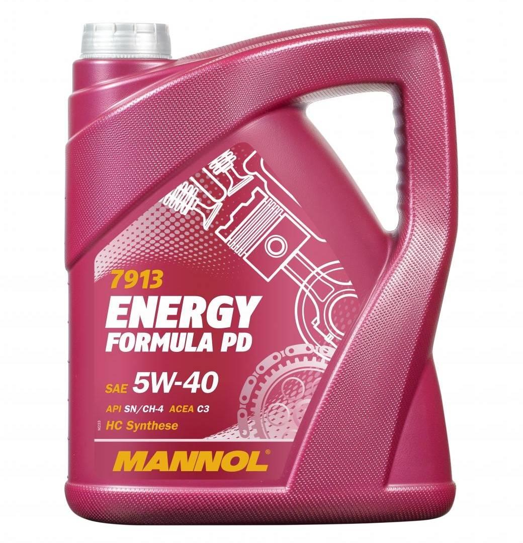 5L Mannol ÖL Energy Formula PD Motoröl 5W-40 VW 502.00 501.00 BMW LL-04 Dexos 2
