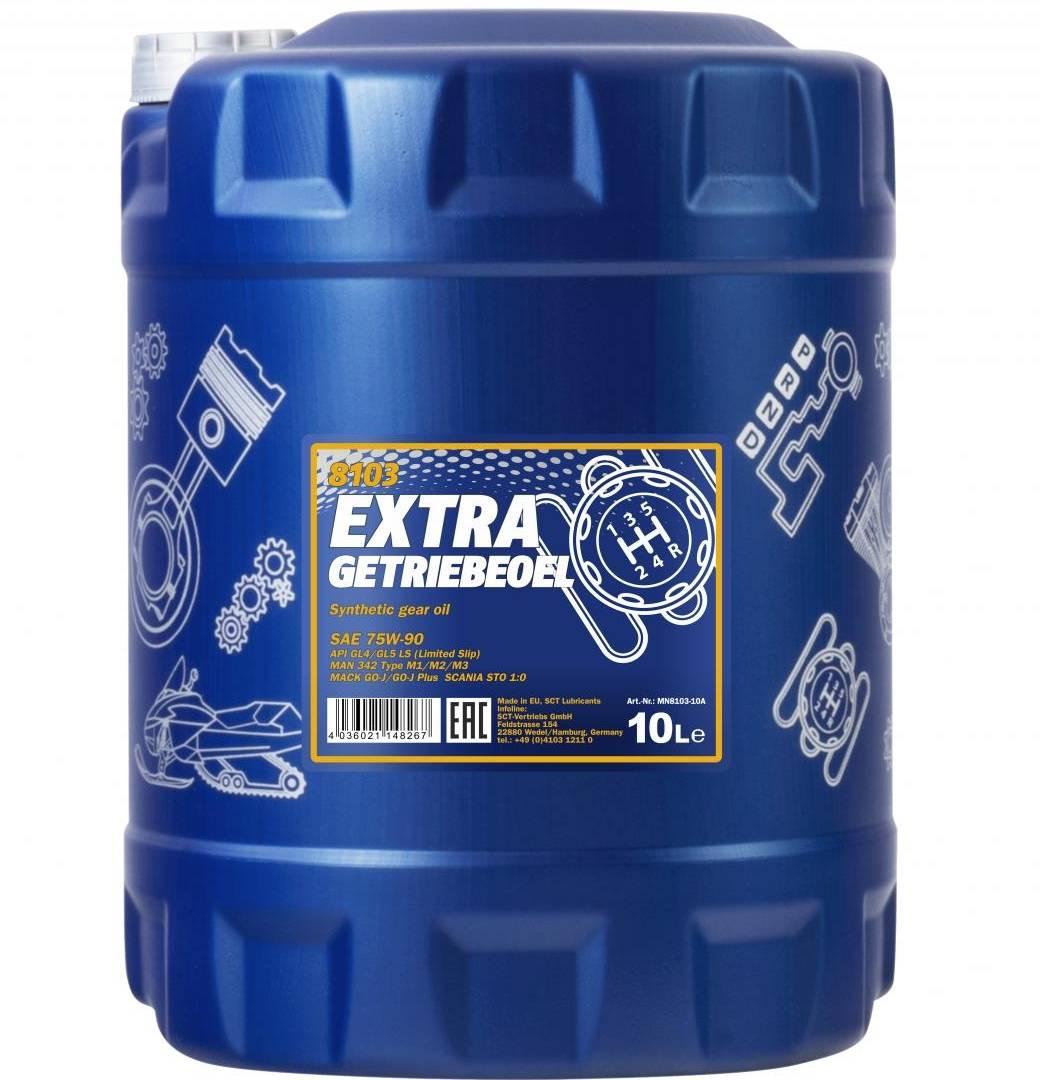 10 Liter Mannol Getriebeöl Extra 75W-90 API GL4 GL5 LS Schaltgetriebe Öl