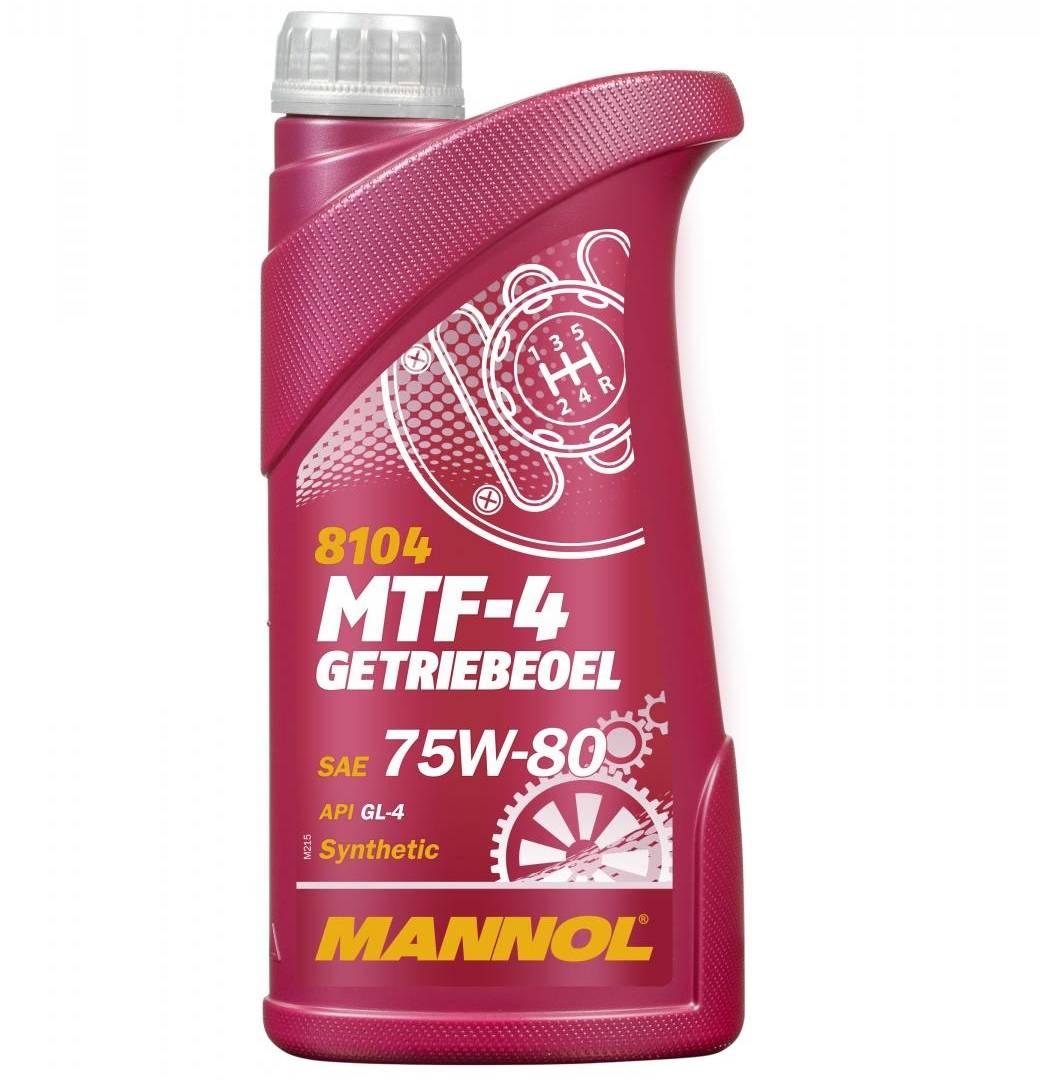 75W-80 1 Liter Mannol MTF-4 Getriebeöl Schaltgetriebeöl API GL-4 VW MB BMW Ford