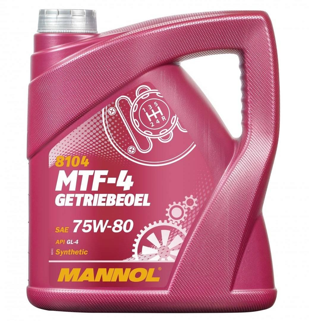75W-80 4 Liter Mannol MTF-4 Getriebeöl Schaltgetriebeöl API GL-4 VW MB BMW Ford