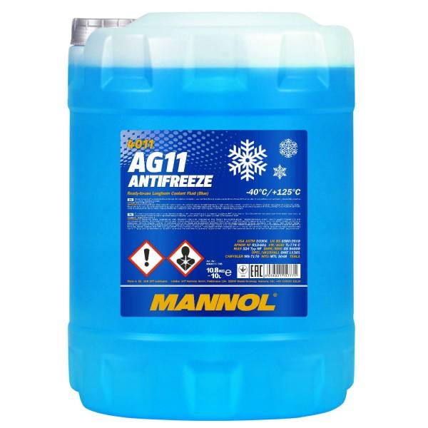 10 Liter MANNOL AG11 -40°C Antifreeze (Longterm)